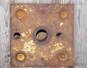 rust heavy paint holes plate