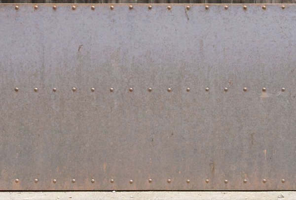 metal plate clean rust plain rivets