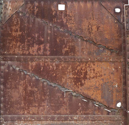 metal rust rusted plate plates