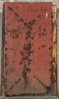 japan metal painted rusted cover