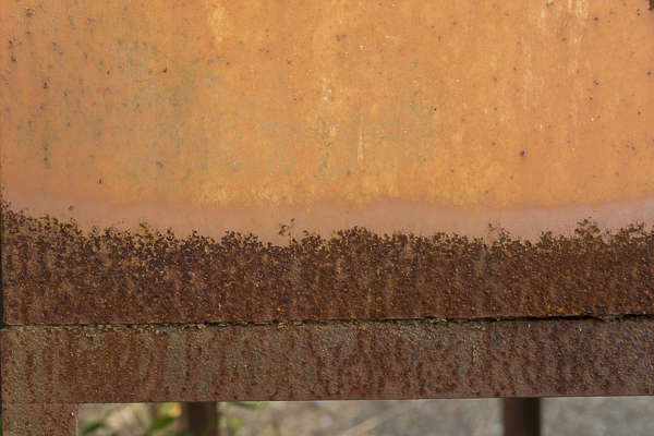 japan metal rusted rust border gradient