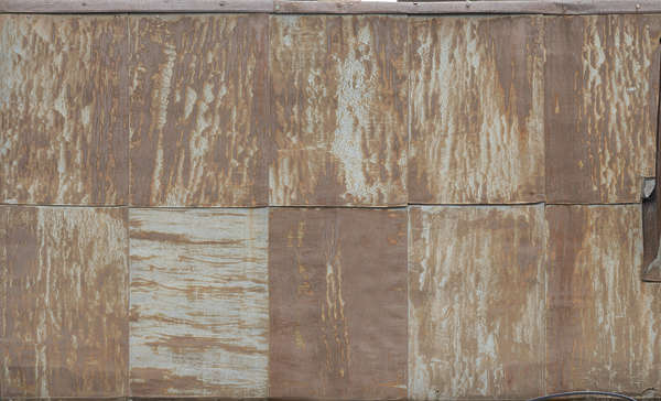 metal rust plates zinc facade corroded corrosion