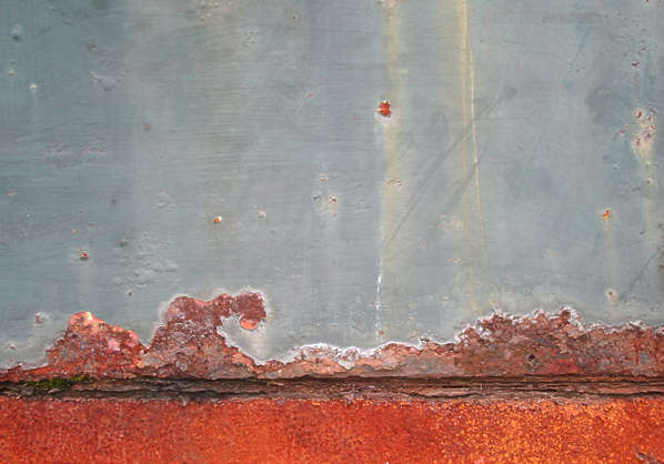 metal rust paint seam edge