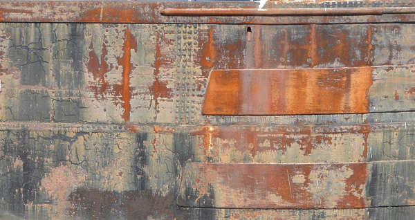 metal painted rust ship old leaking
