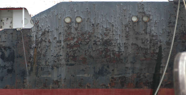 metal paint rust old ship hull