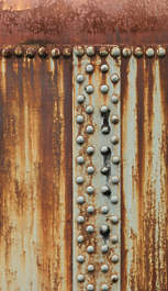 metal paint rust rivet rivets rusted silo