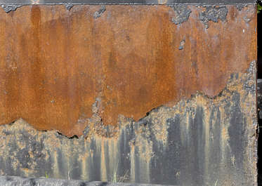 metal rust paint tusted old