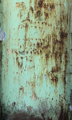 rusted paint leaking rust