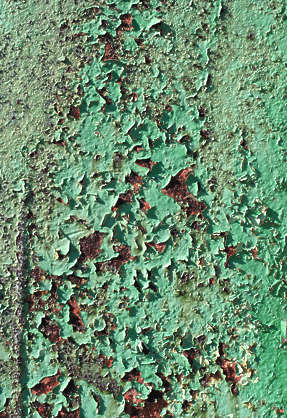 metal rusted paint crackles cracked