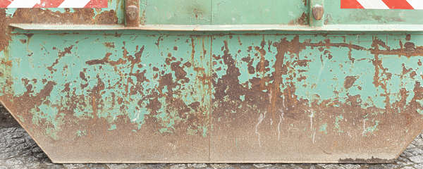 painted metal rusted