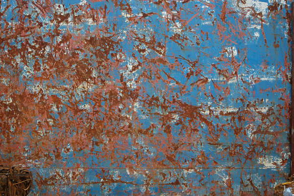 metal painted rust wall