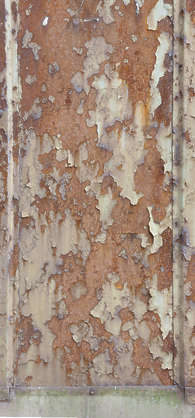 metal painted rust rusted