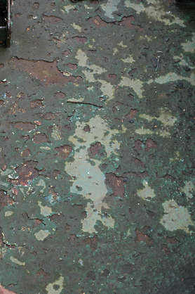 rust paint floor