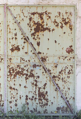 morocco metal door rusted