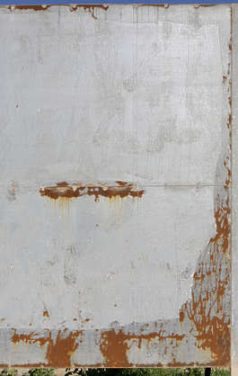 metal plates plate fence rusted rust scratches bare morocco
