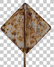 traffic sign old rusted rust back backside bullet holes