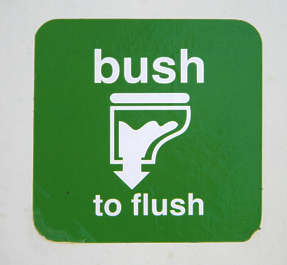 sticker sign toilet flush wc