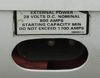 sign instruction volts airplane sticker