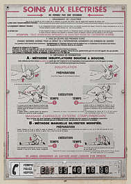 sign instructions medical respiration first aid