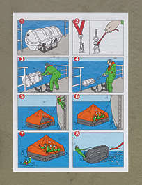 illustration liferaft flotation device