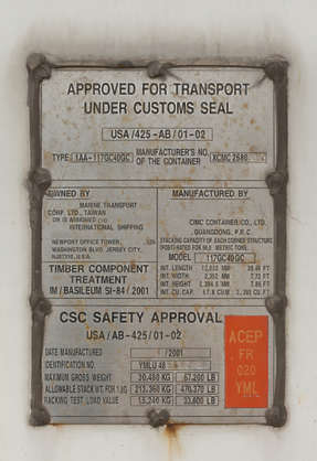 sign information cargo transport