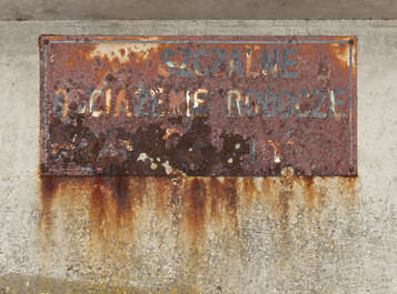 rust rusted sign