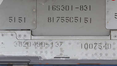 aircraft metal markings letters militairy airplane