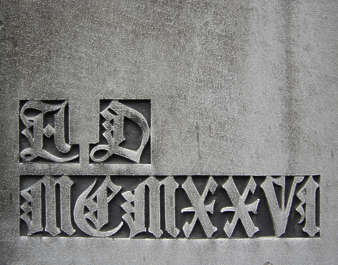 ornaments gravestone tombstone letters