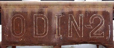sign letters 2 welded rust