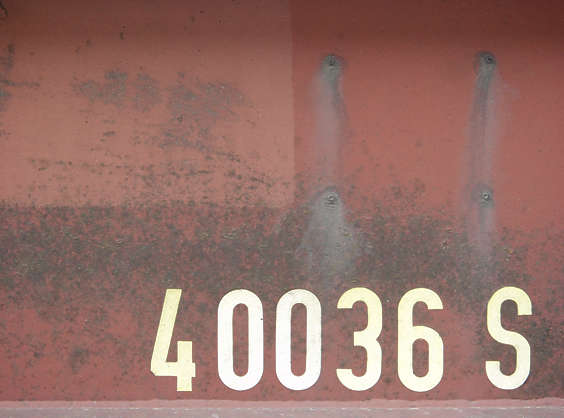 sign numbers metal 4 0 3 6 S