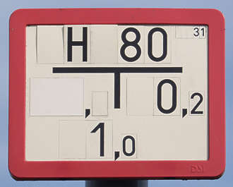 sign plastic numbers