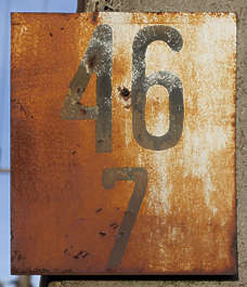 sign old rusted rust numbers
