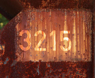 rust rusted paint numbers number dirty