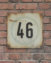 metal sign number numbers rusted