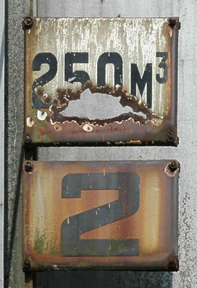 sign size number