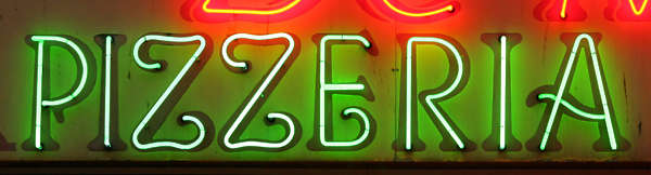 sign neon pizza