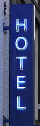 sign neon hotel
