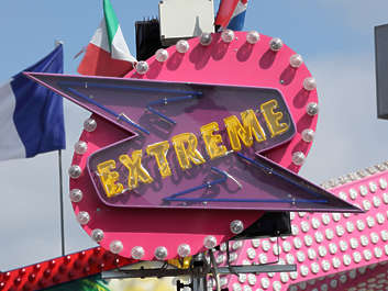 fun fair neon light lights logo extreme