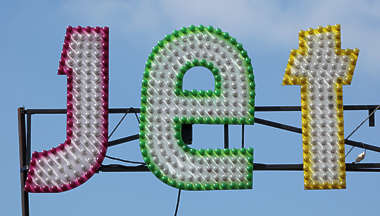 fun fair lights logo jet bob