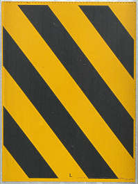 sign stripes honeycomb black yellow stripe