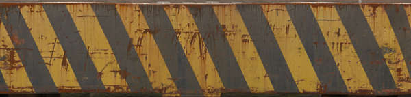 stripe danger warning weathered industrial rusted damaged