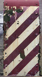 sign stripes stripe warning rust rusted