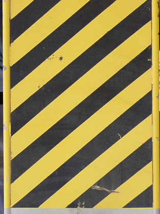 sign warning stripes black yellow metal stripe