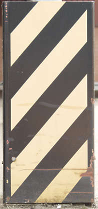sign stripes yellow black warning faded scratched stripe
