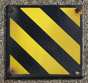 stripes yellow black warning plate sign stripe