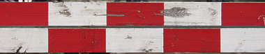 sign warning stripes white red wood paint damaged dirty stripe