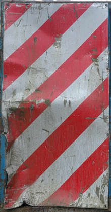 metal stripes scratches warning red white stripe