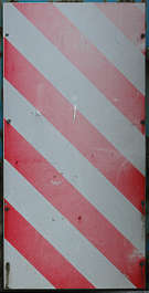 metal warning stripes white red faded stripe