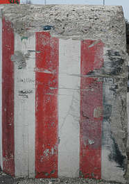 stripes warning red white concrete damaged scratches stripe