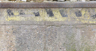 concrete painted caution strip germany